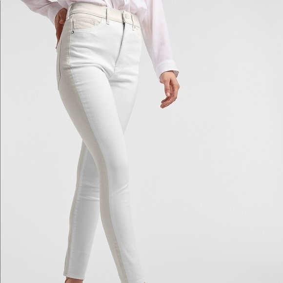 NWT Express High Waist Color Block Skinny Jeans